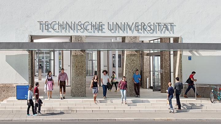 Haupteingang der TUM am Stammgelände München