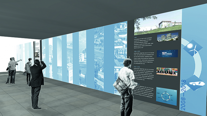 Digital draft of the exhibition hall