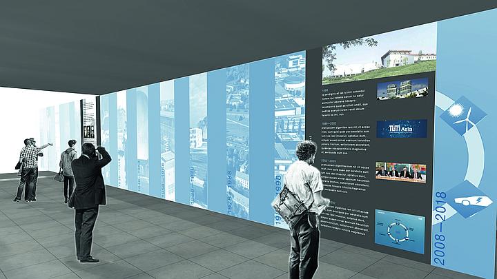 Computergrafik der Ausstellungshalle