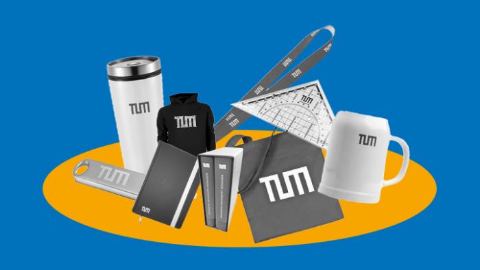 Merchandising-Artikel der TUM: Verlinkung zum TUM-Shop: https://shop.tum.de/