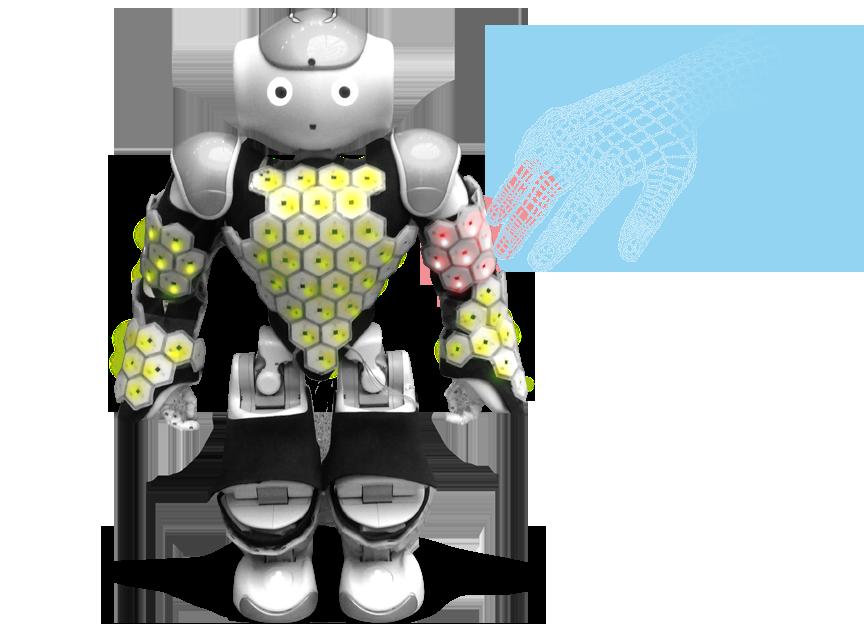 Robot with sensor skin