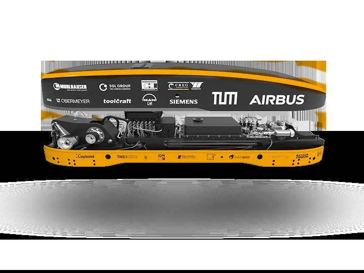 Queransicht des WARR Hyperloop 2