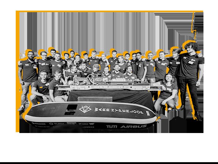 WARR Hyperloop 2 team in front of their pod