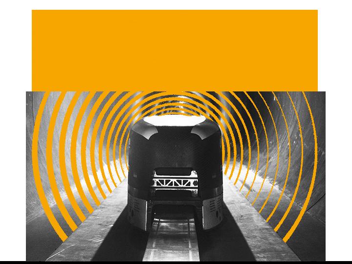 WARR Hyperloop Kapsel in der Transportroehre