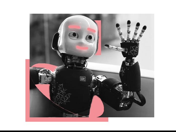 Roboter iCub winkt