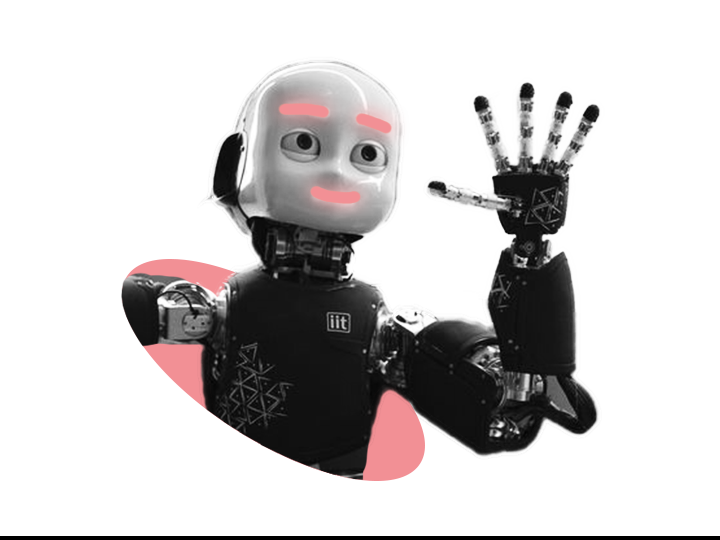 ICub robot waving