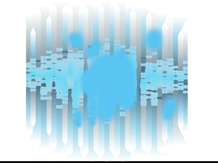 Muster Lichtsignale der Tscherenkow-Strahlung