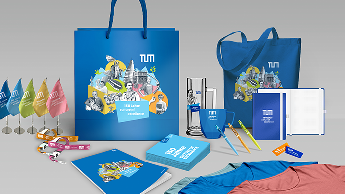 Merchandising-Artikel der TUM: Verlinkung zum TUM-Shop: https://shop.tum.de/